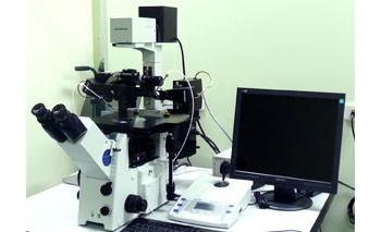 倒立式螢光顯微鏡